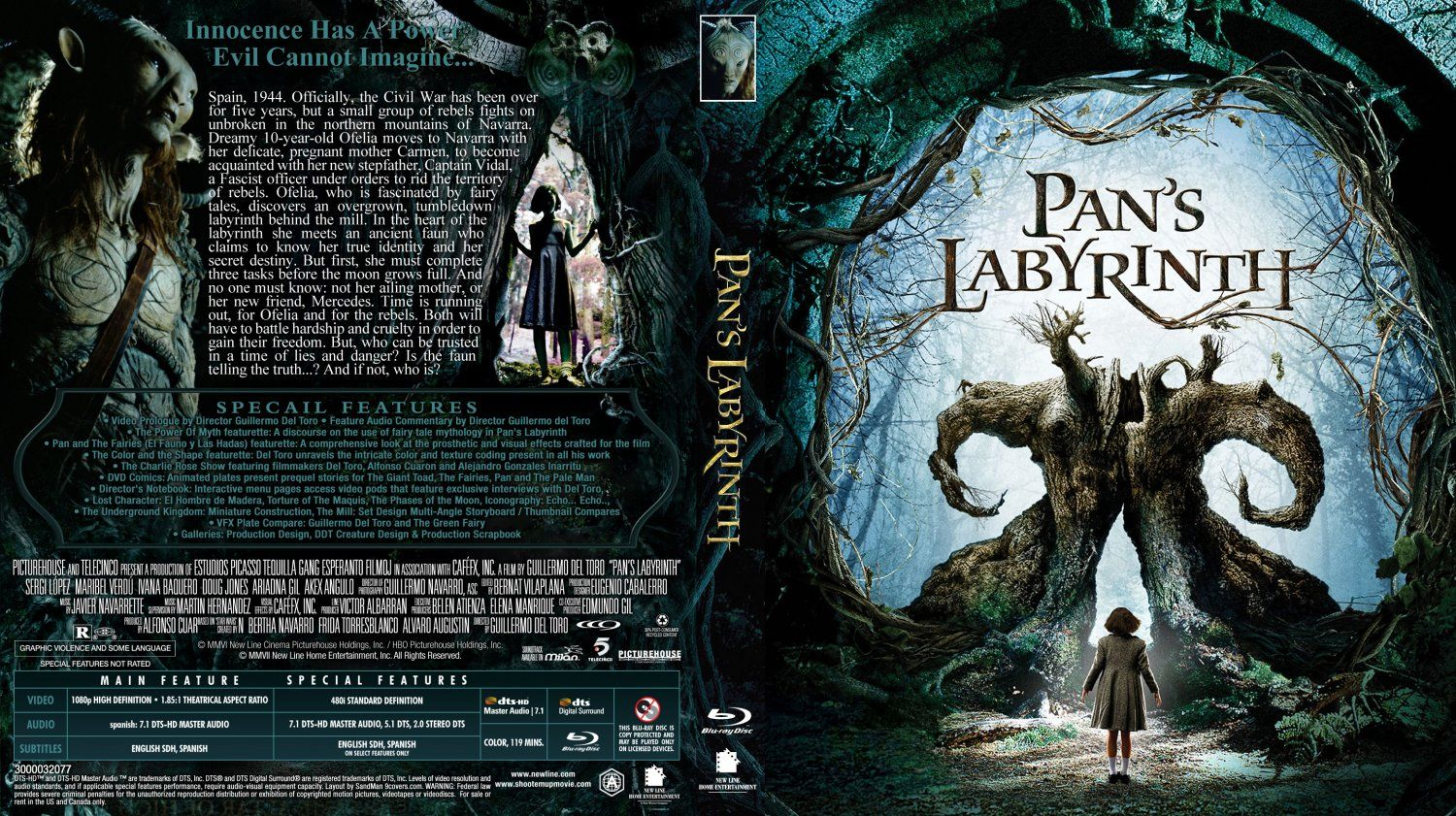 Pan 39 s labyrinth cover pan 39 s labyrinth movie blu ray scanned covers pan s labyrinth - Fresh pan s labyrinth wallpaper ...