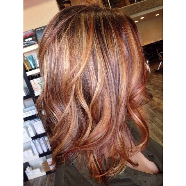Hair color trends 2017 2018 highlights if i ever shelled out burnt sienna hair color auburn with golden blonde highlights on a brown base pmusecretfo Choice Image