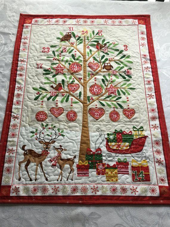 Advent Calendar Quilted Christmas Advent Calendar Christmas ... : advent calendar quilt - Adamdwight.com