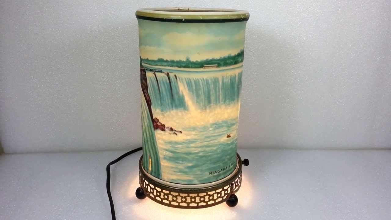 Vintage 1955 Econolite Niagara Falls Motion Lamp Painting Lamp Shades Lamp Motion Lights