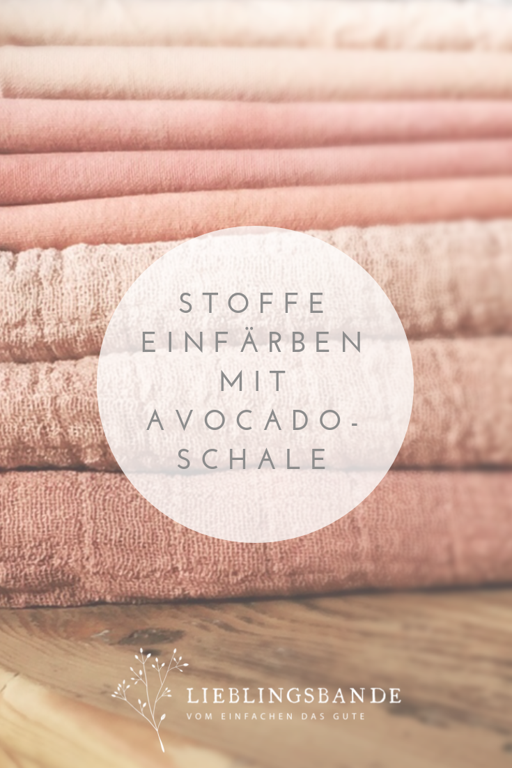 Textilien Einfach In Wunderschone Altrosa Tone Farben Mit Avocadoschale Naturliche Farbemittel Textilien Textilien Farben