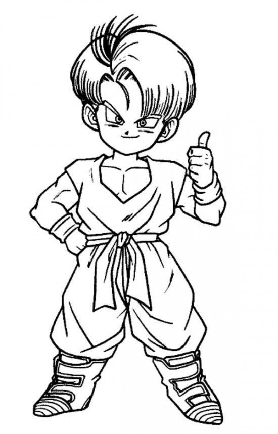 Son Goku Dragon Ball Z Coloring Pages For Kids All About Free