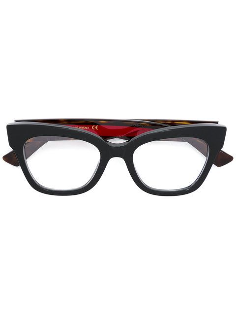 11f926a08ae17 Shop Gucci Eyewear cat eye square glasses.