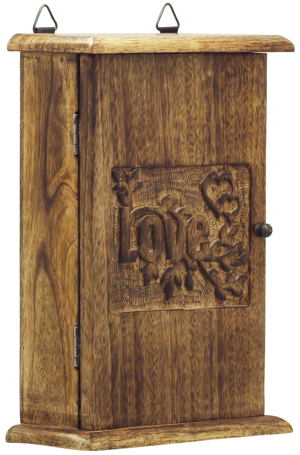 Key To Love Handmade 9 6 Key Holder Box With Love Carved In Mango Wood Wooden Key Holder Wall Mounted Key Holder Wood