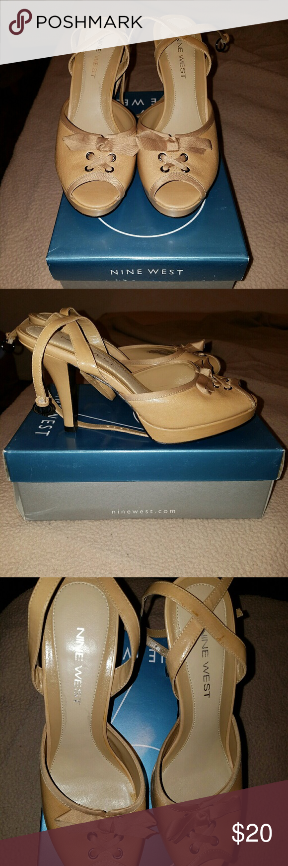 Nine West Nude Heels Size 7 Nine West nude heels. Super cute. I wore them for like 5 minutes so they are basically new. Still have original box. Nine West Shoes Heels