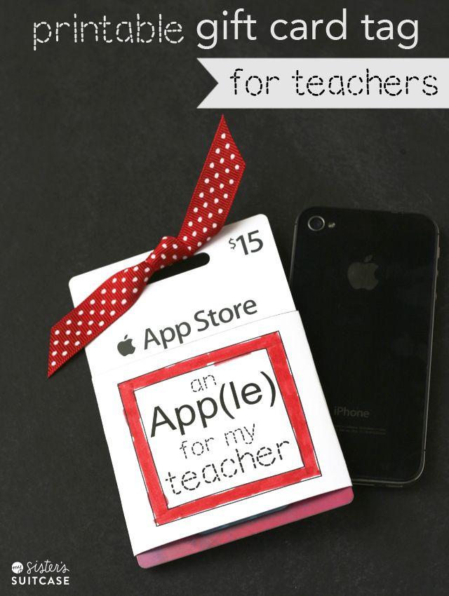 Teacher appreciation apple app gift card