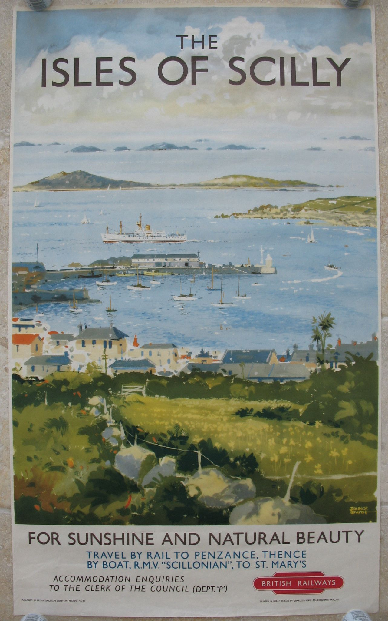 1950/'s British Railways Isles Of Scilly Railway Poster  A2 Reprint