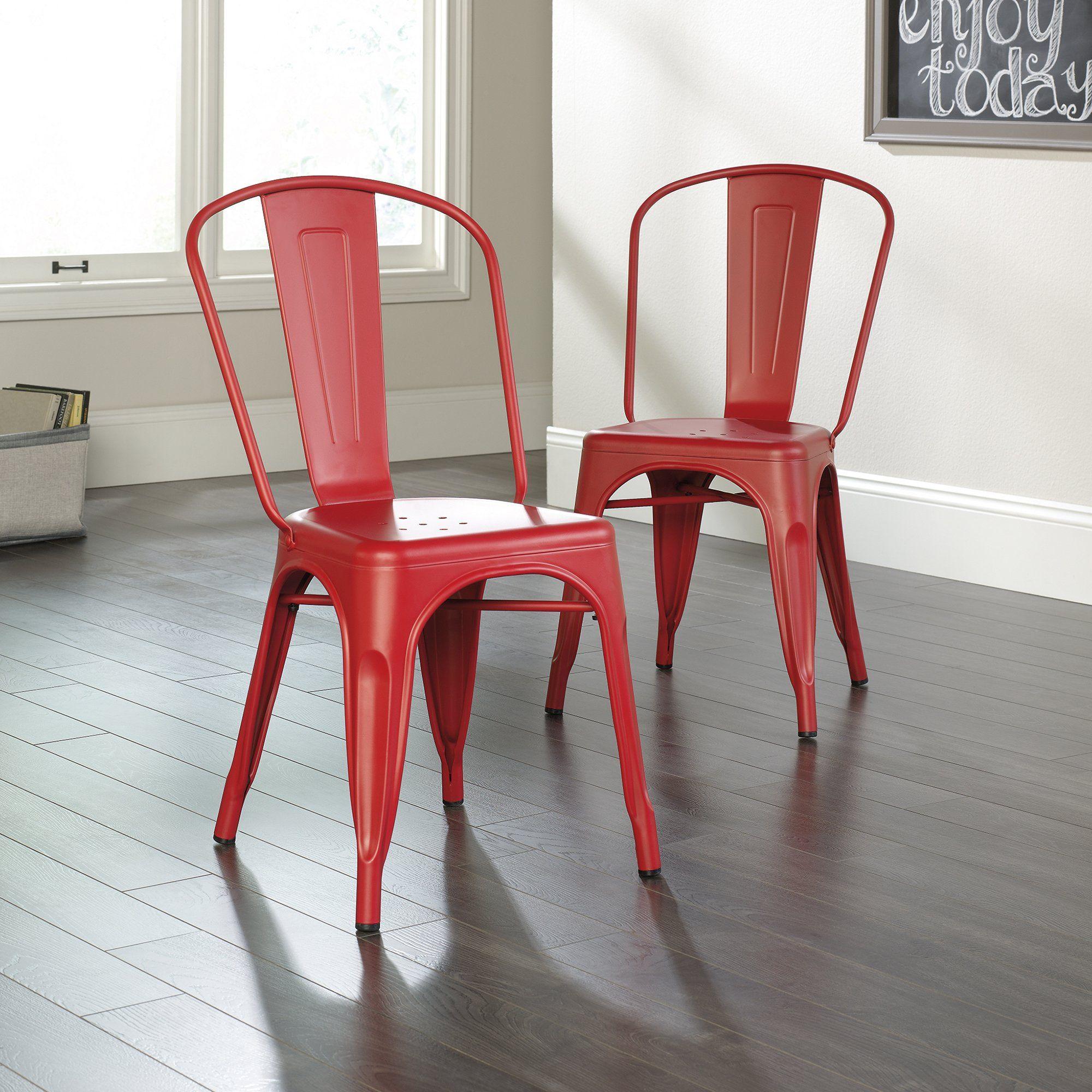 Sauder 419741 New Grange Collection Matte Red Caf Chair Set Of 2