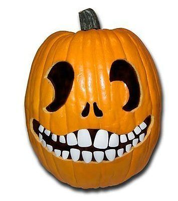 Halloween Pumpkin Carving Kit Pumpkin Teeth For Your Jack O Lantern Set With Images Pumpkin Carving Pumpkin Carving Kits Halloween Pumpkins Carvings