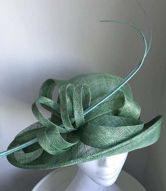 TheHeadwearBoutique on Etsy- Esta Unique Mint  Leaf  Jade Green Kentucky  Derby Hat 47894e4ed59