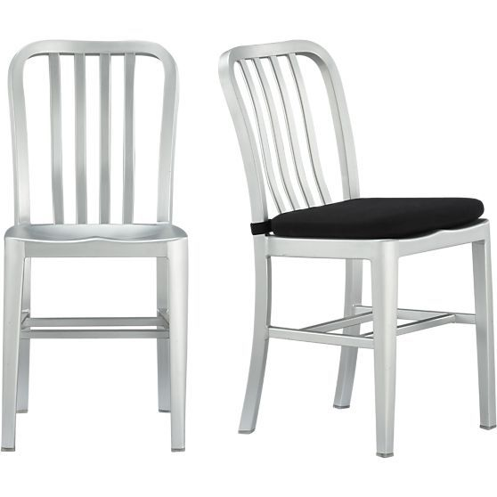 Delta Aluminum Dining Chair and Cushion | Client ...