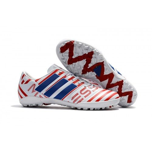 more photos 44868 1b4fa Zapatillas Futbol Sala Adidas Messi Nemeziz 17.1 TF Blanco Rojo Azul