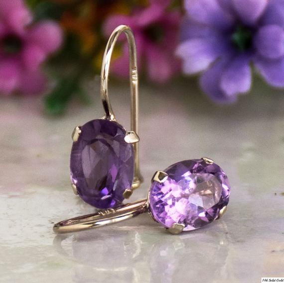 Amethyst Earrings-Amethyst Pearl Earrings-Purple Earrings-Purple and White-Amethyst Dangle Earrings-Amethyst Drop Earrings-Gift for Her-