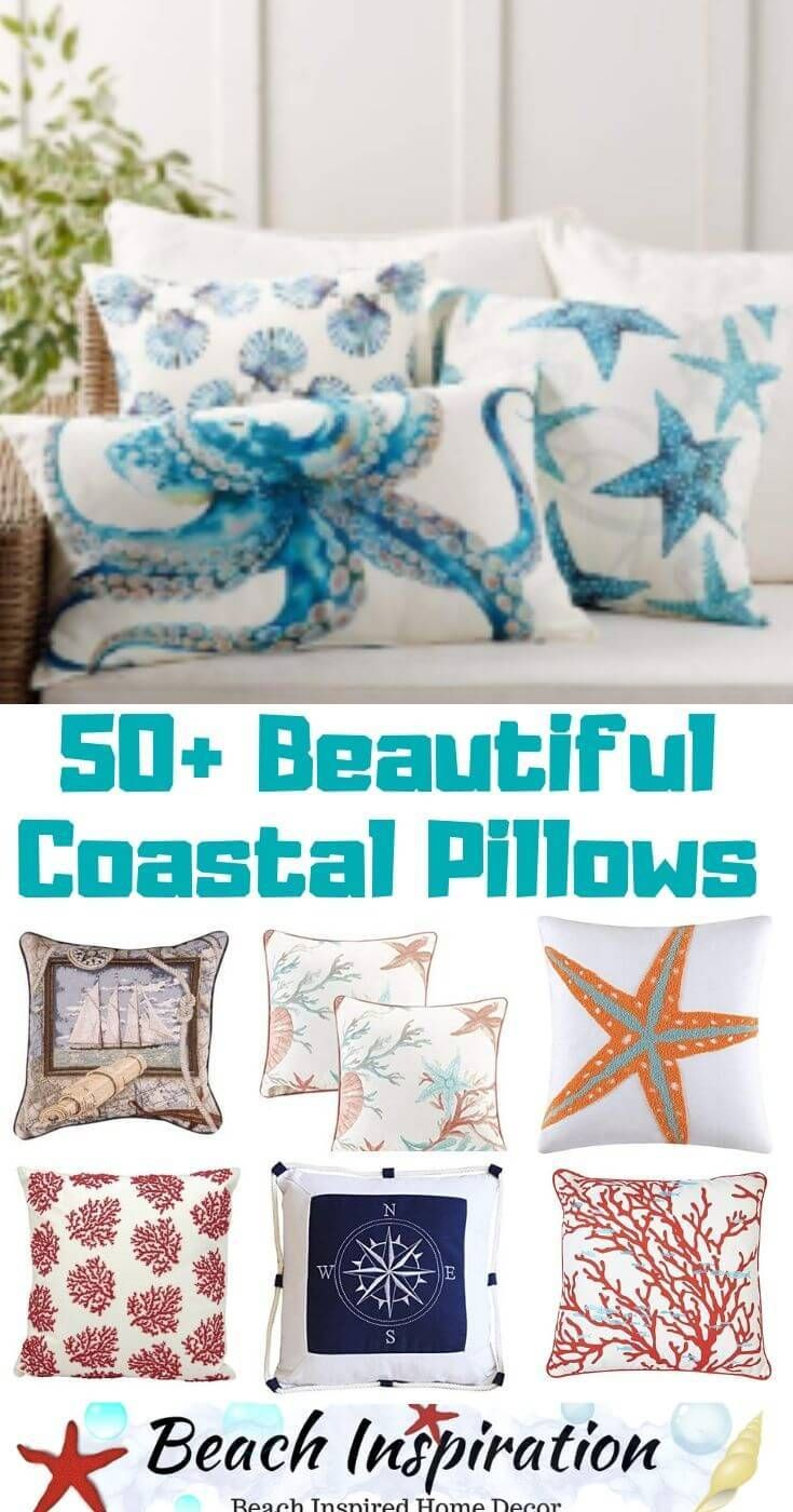 Photo of 50+ Decorative Coastal Throw Pillows for Living Rooms