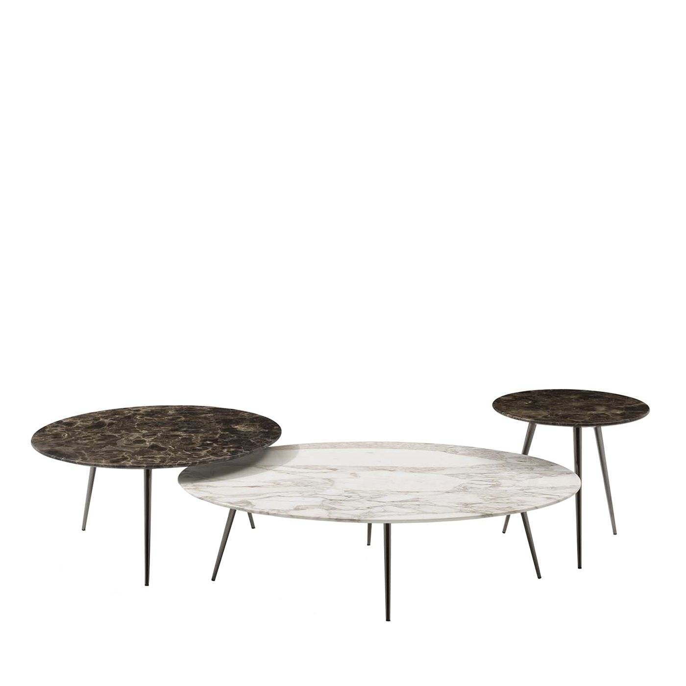 Set Of 3 Cinquanta Oval Nesting Tables Oval Marble Coffee Table Coffee Table Nesting Tables [ 1400 x 1400 Pixel ]