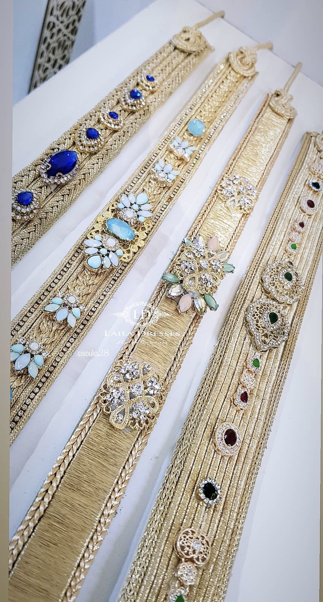 Strass Serre-tête Mariage Costume Applique Bling Perles Strass Robe Motif