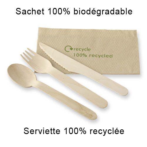 Kit Couverts Bois Biodégradable 4 en 1