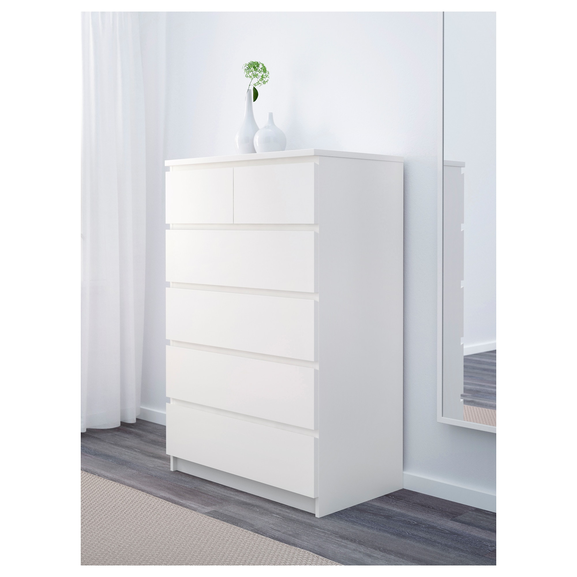 Malm Kommode Shabby Chic Malm Kommode Mit 6 Schubladen Weiß In 2019 Products 6 Drawer