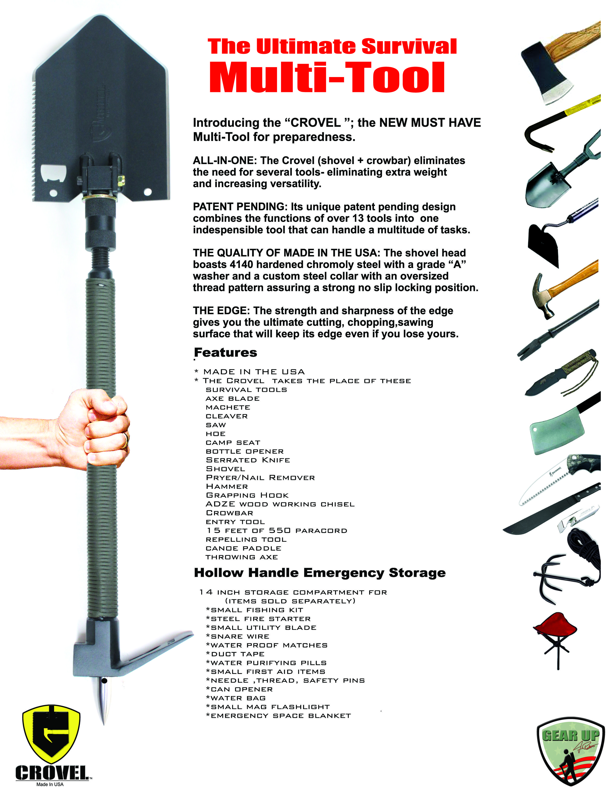 e8ed9ccb2225 The Crovel Extreme 2: It replaces every tool in your camping arsenal ...