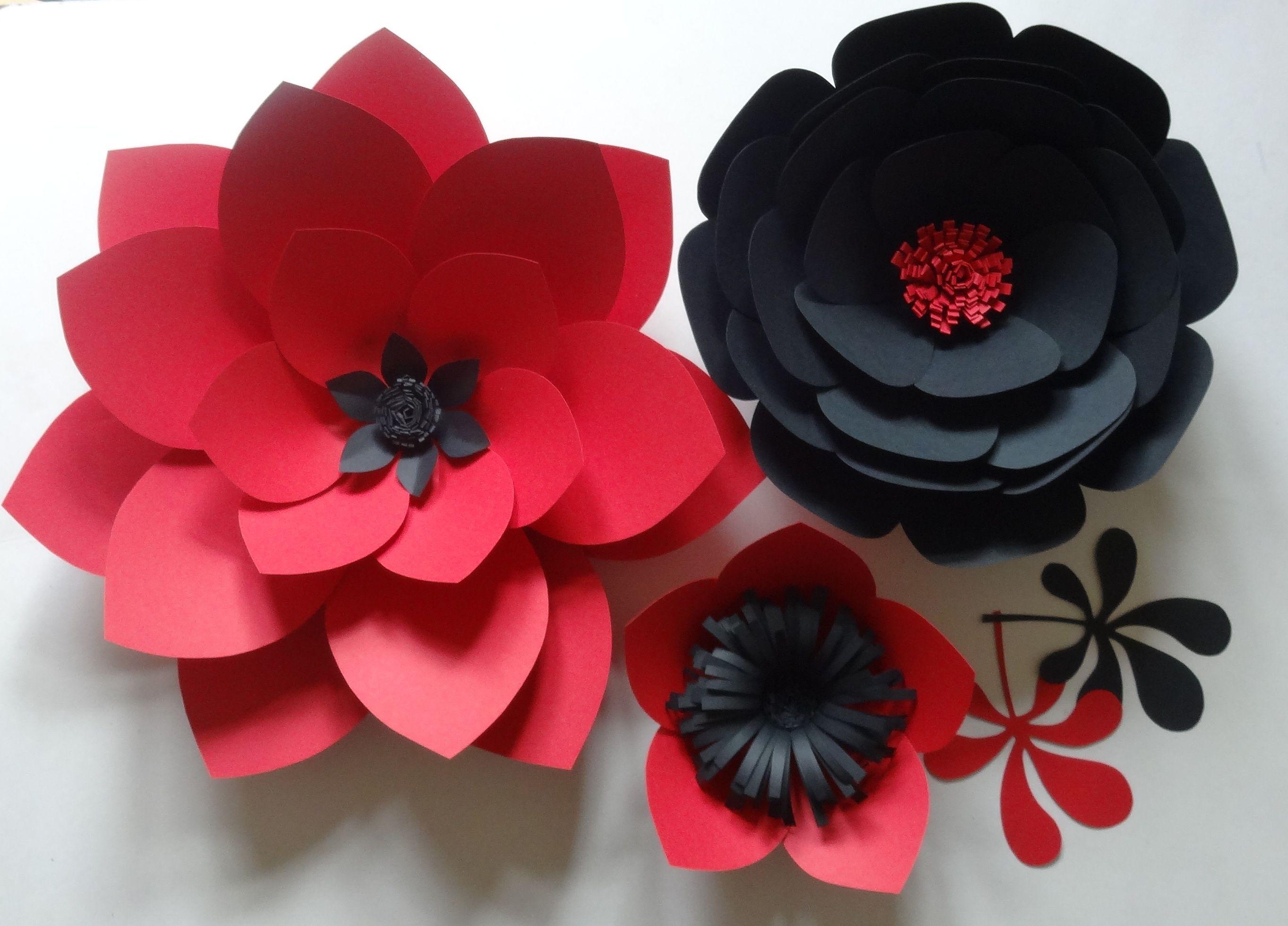 Papierowe Kwiaty Chanel Czerwony I Czarny Zawsze Piekne Polaczenie