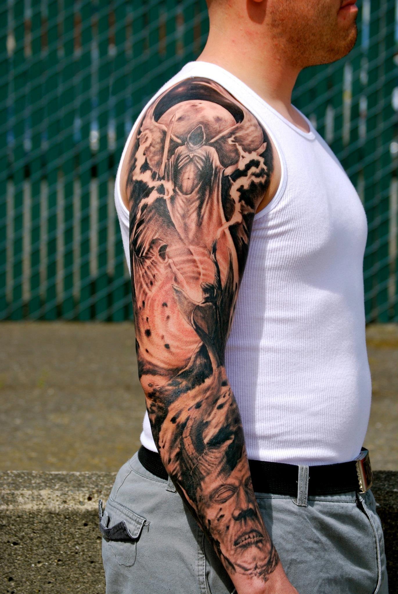 Nicholas beuthien super genius tattoo seattle wa black