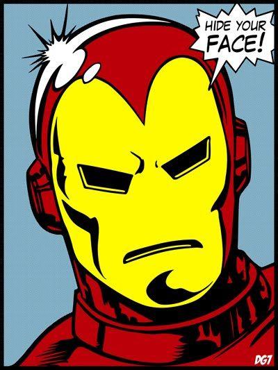 Iron Man Comic Face Iron Man Comic Comic Face Iron Man