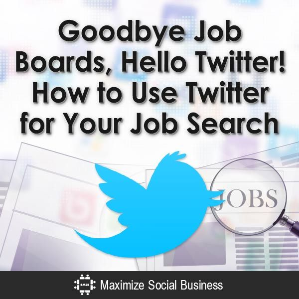 I just finished giving a presentation on utilizing Twitter for your job search today to an audience of in-transition professionals.  While most of the prof