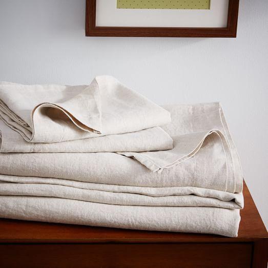 Belgian Flax Linen Sheet Set - Natural Flax | west elm