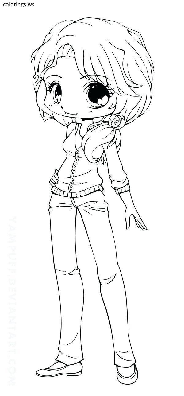 Chibi Girl 02, Chibi Girl Coloring Pages, Free Printable ...