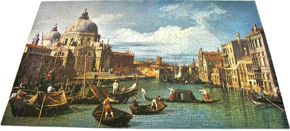"""Photo of 500 Piece Springbok Venice, Italy """"Entrance to the Grand Canal"""" Canaletto Adult Jigsaw Puzzle"""