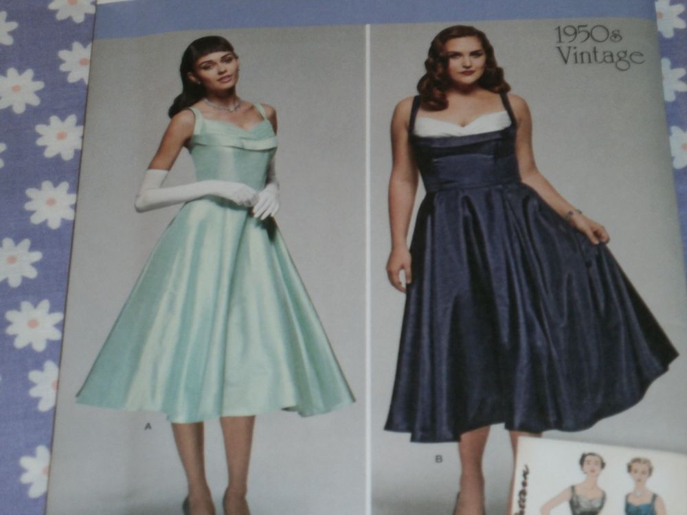 SIMPLICITY 1155 RETRO 50's MISSES ROCKABILLY  DRESS  PATTERN-NEW-UNCUT-10-18 7.99+fr 3/31/15 new