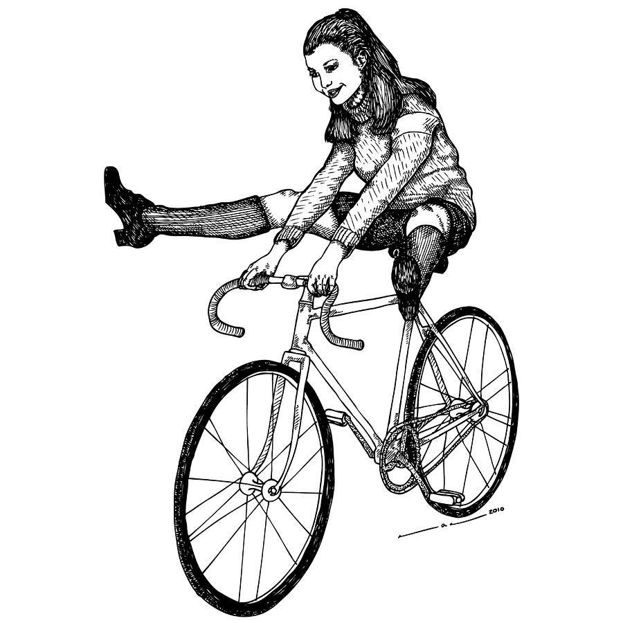 Bike Fun By Karl Addison Bike Art Cool Drawings Cycling Art