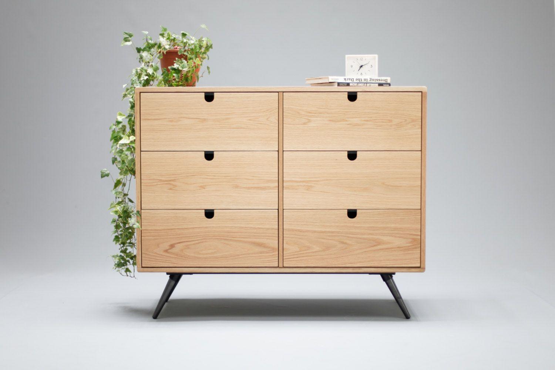 Dresser Commode Or Credenza In Oak Walnut Solid Board Style Modern Mid Century