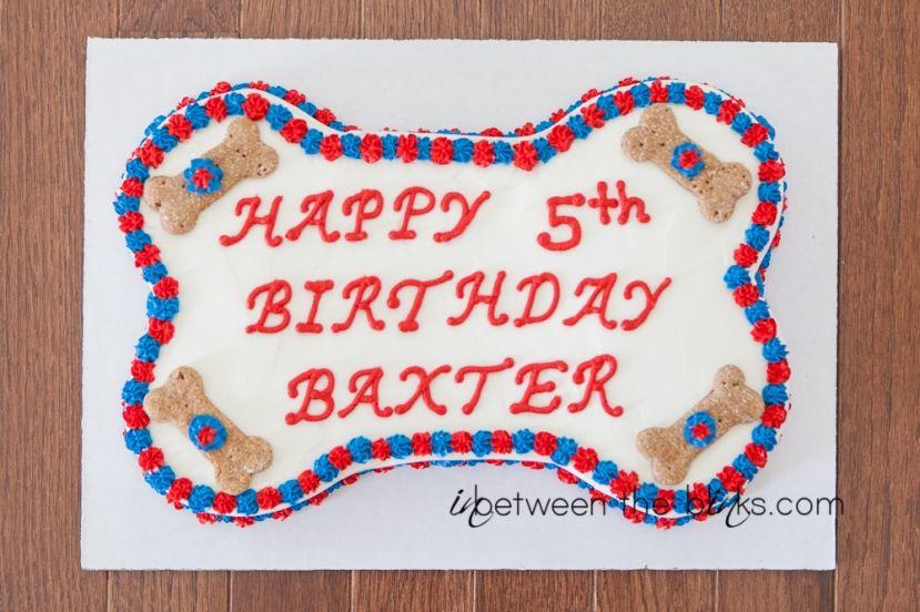 Happy 5th Birthday Baxter Dog birthday cake by Gourmutts