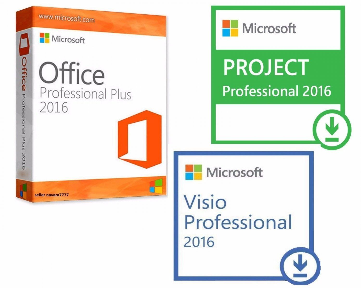 OFFICE+PRO+2016+++VISIO+2016+++PROJECT+2016+32/64+BIT,+KEY+