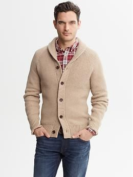 Heritage Shawl Collar Cardigan Banana Republic A Neutral But Very