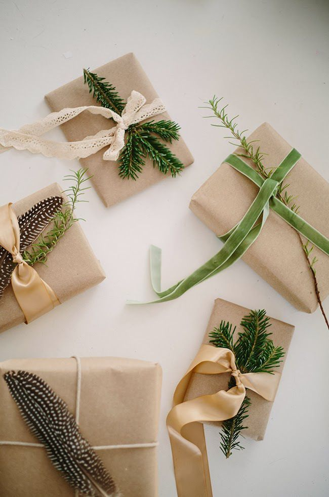 13 idées d'emballages cadeaux - 13 pretty wrap gift ideas - | Simple gift wrapping, Creative ...