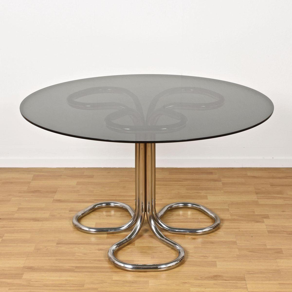 Runde Weiß Tische Esstisch Eiche Sägerau Trüffel Massiv