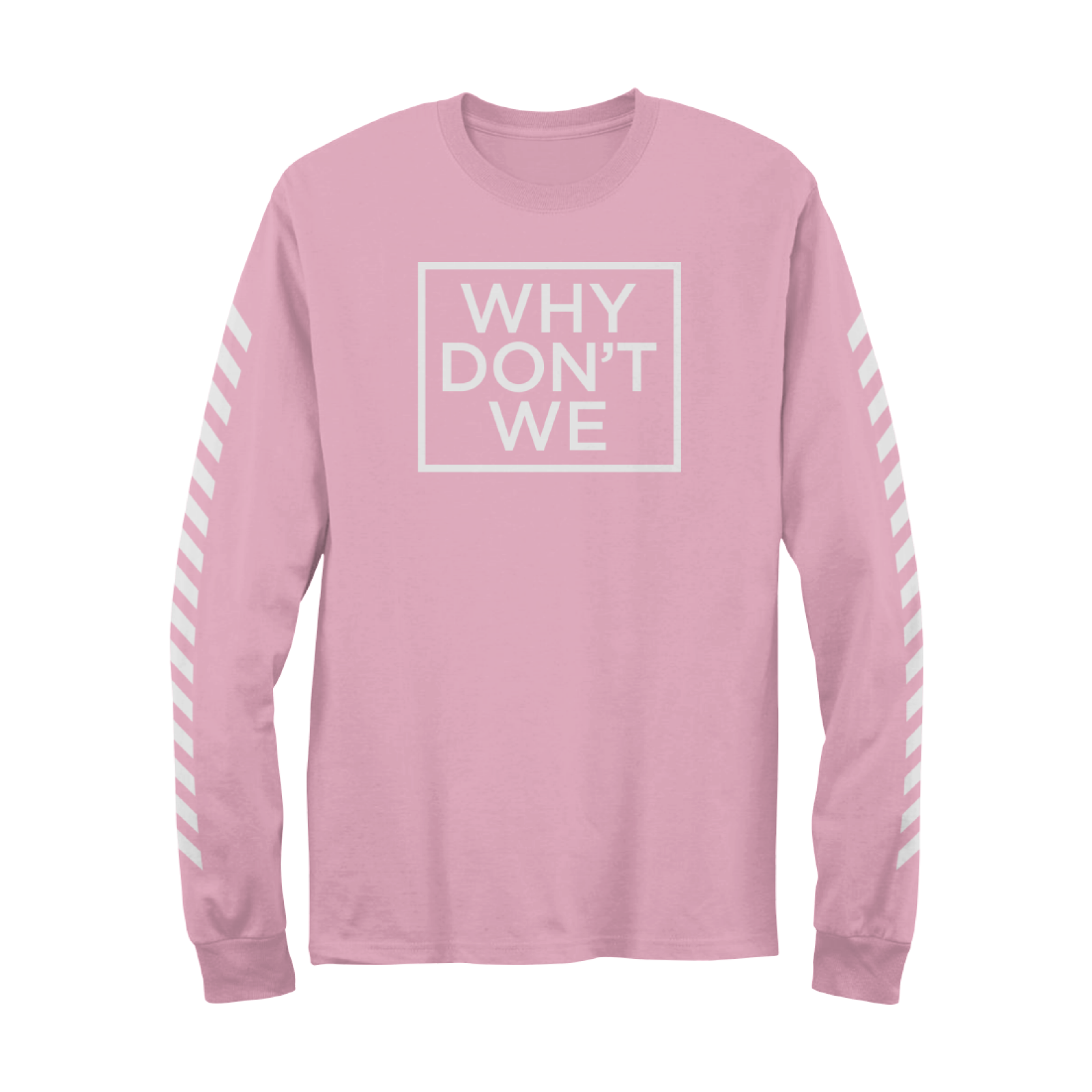 09a6dc86a6fcf7 Why Don t We Long Sleeve (Pink) - Apparel