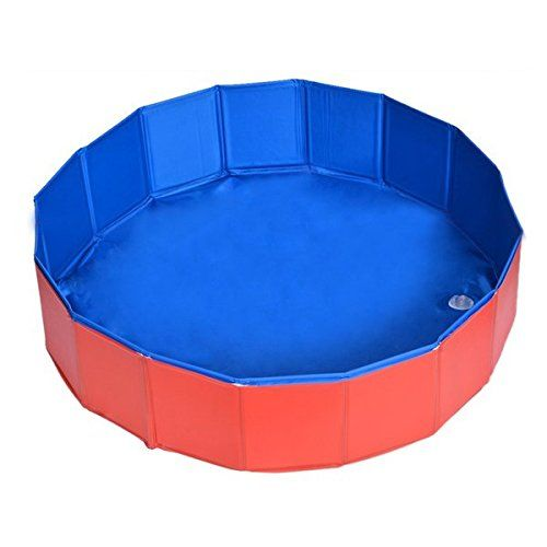 Pet Swimming Pool  TOOGOOR Foldable Pet Dog Swimming House Bed Summer Pool BlueRed >>> Find out more about the great product at the image link.