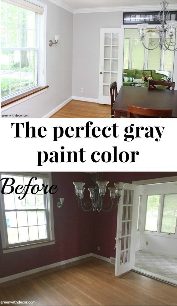 Agreeable Gray Paint In The Dining Room Amazing What Some Can Do To Brighten Up A Dark