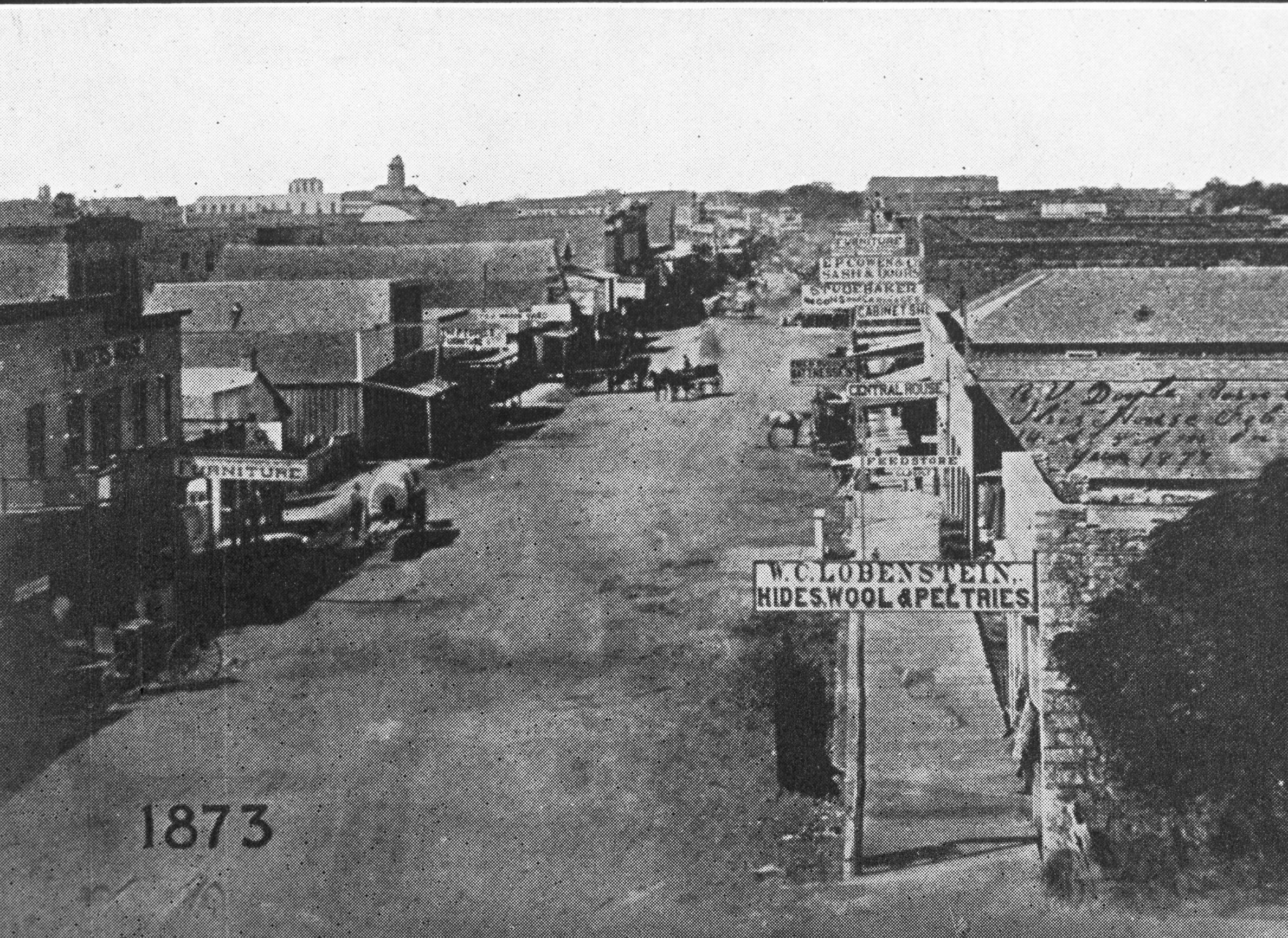 Photograph Of Dallas 1873 Squire Haskins Photography Inc Photographer Uta Libraries Digital Gallery Special Collectio Downtown Dallas Old Pictures Utas