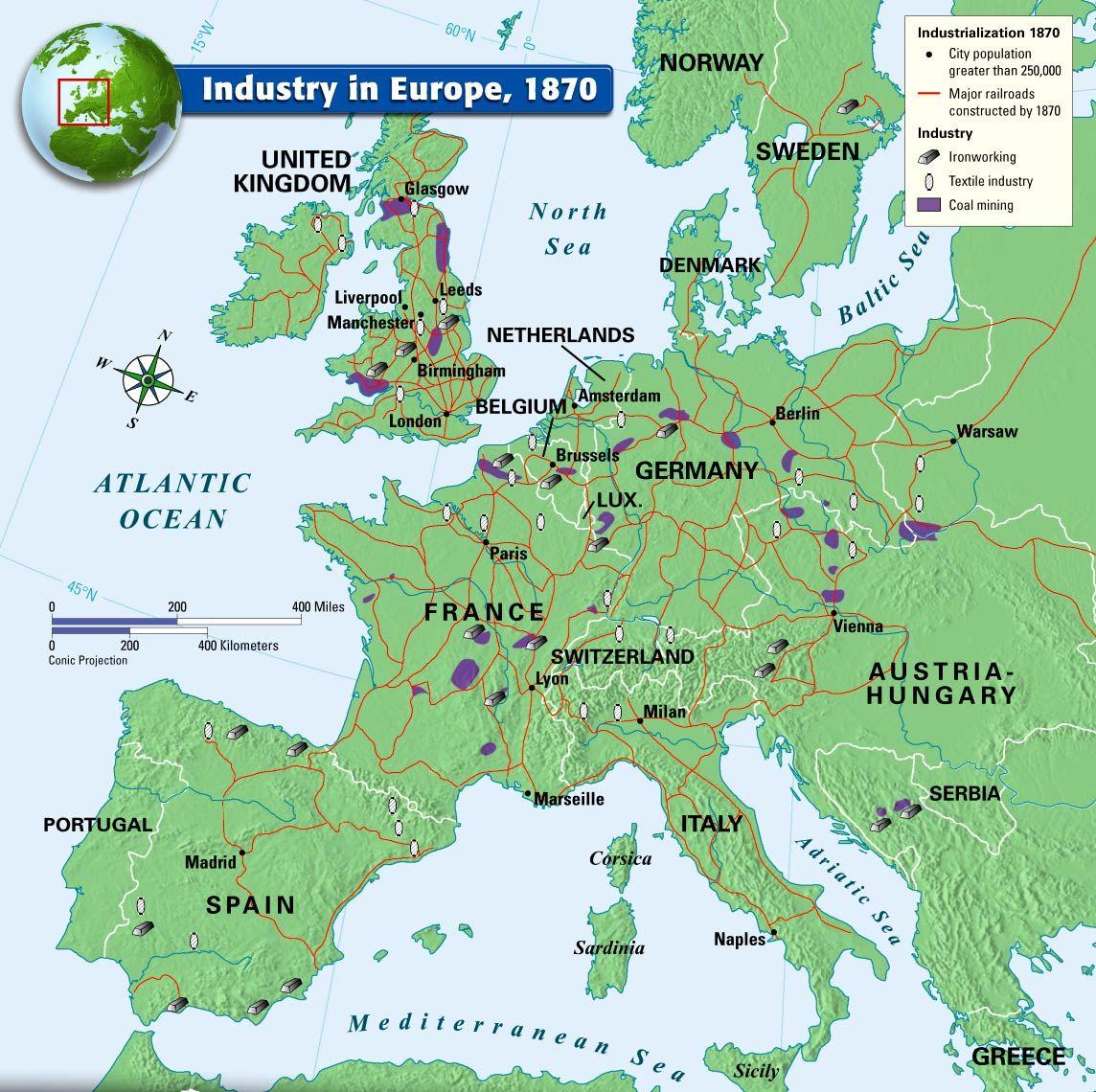 Industry In Europe 1870 Norway City European History Europe