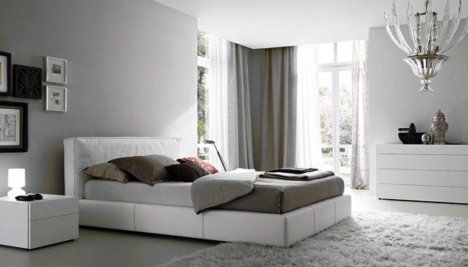 slaapkamer met grijstinten | Leuke ideetjes nieuwe huis | Pinterest ...