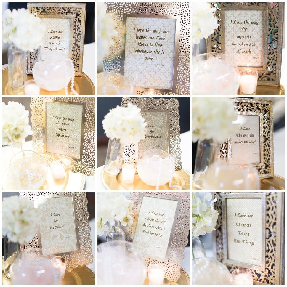 personalized bridal shower decorations his favorite things about her