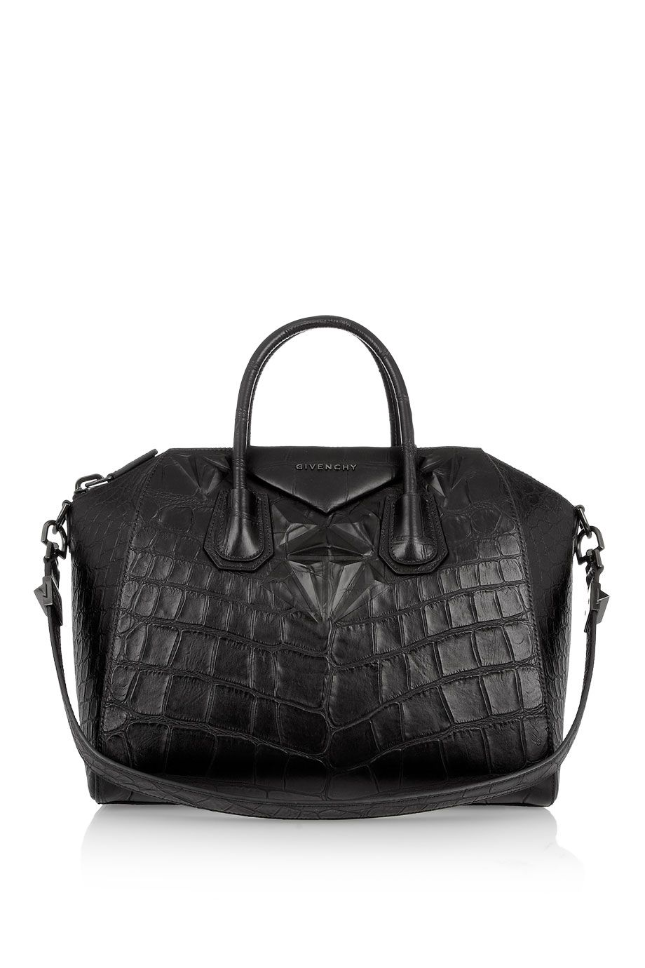 5c55025272 Givenchy | Medium Antigona bag in black crocodile-style leather |  NET-A-PORTER.COM