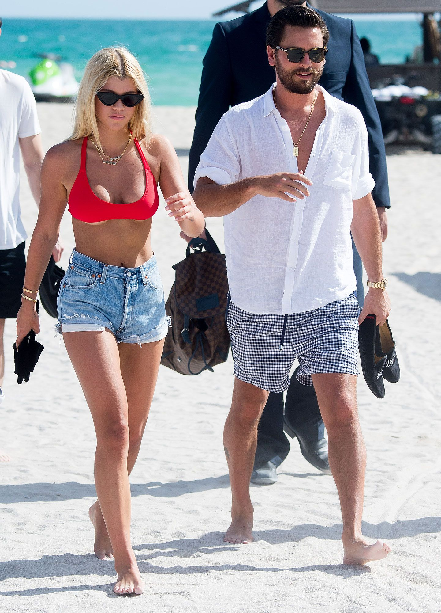 ae417d986216 Going Strong! Scott Disick and Sofia Richie Soak Up the Sun in Miami ...