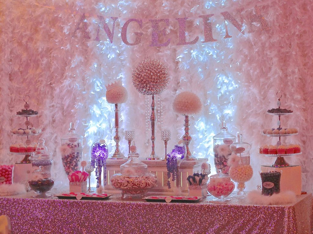 wedding shower candy buffet ideas%0A Quinceanera  Angelina  dressydesigns  Candy TableCandy
