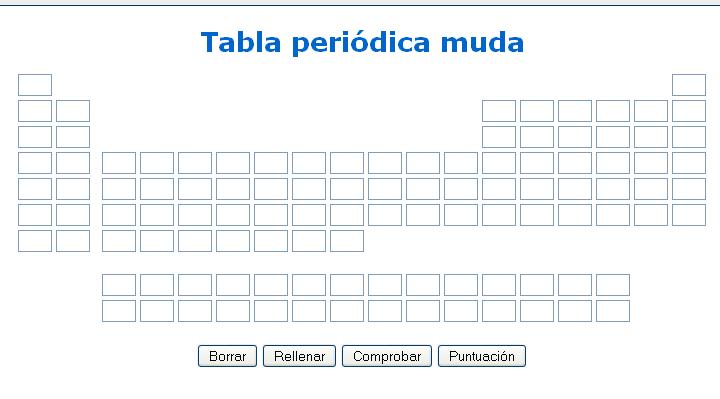 Esta pgina web presenta una tabla peridica en blanco en la que se esta pgina web presenta una tabla peridica en blanco en la que se puede practicar la urtaz Choice Image