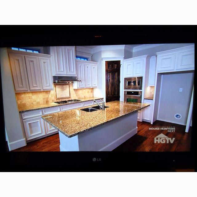 White Kitchen Hgtv: White Kitchen With Granite Counters From Show On HGTV